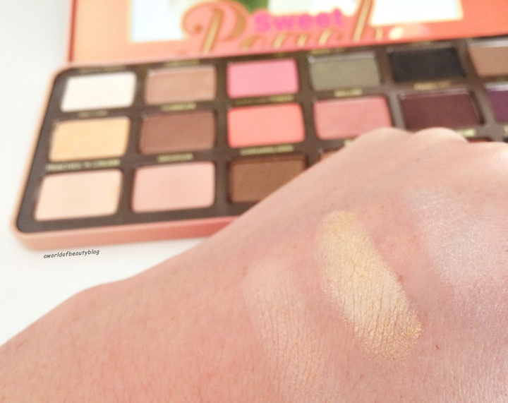 Too Faced Peach Palette France Swatch