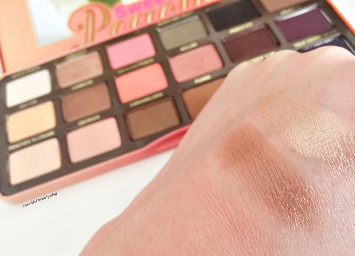Too Faced Peach Palette Revue Swatch