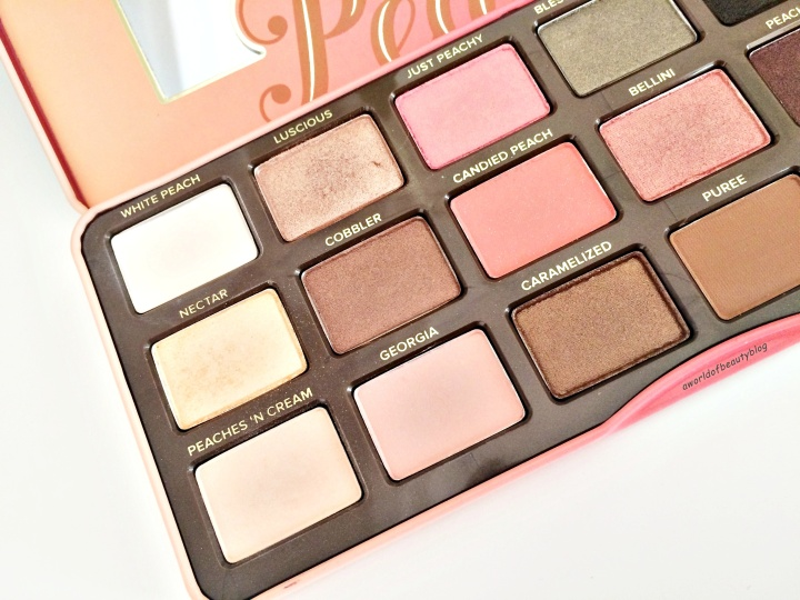 Too Faced Peach Palette Swatch