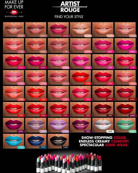 nouveaut make up for ever artist rouge lipstick a world of beauty blog. Black Bedroom Furniture Sets. Home Design Ideas