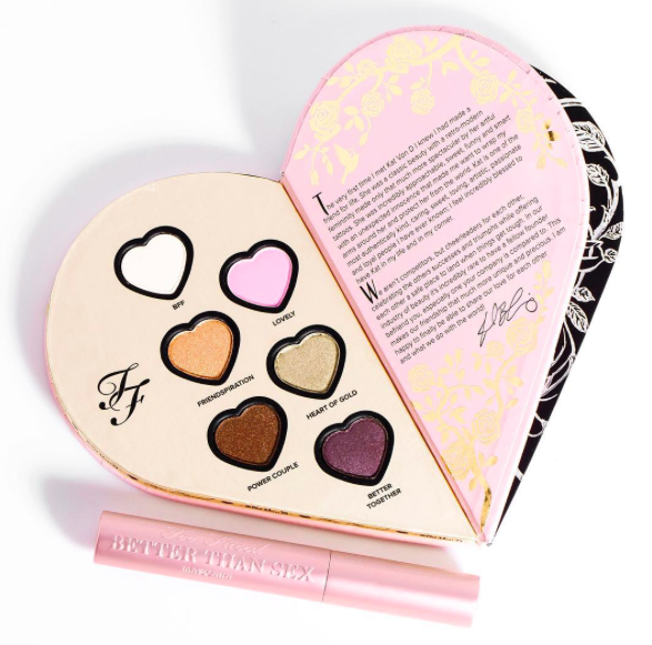Too Faced Kat Von D Collab Better Together Palette Revue Swatch