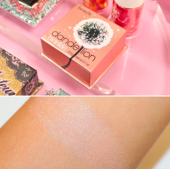 dandelion-twinkle-benefit-highlighter-sephora-france-prix-swatch-infos