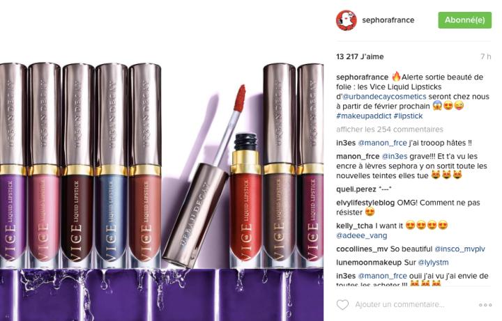 Urban Decay Rouge a lèvres liquide Vice Liquid Lipstick Sephora France.png